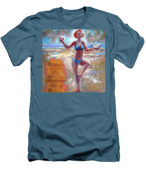 Dancing At The Edge Men's T-Shirt (Slim Fit)