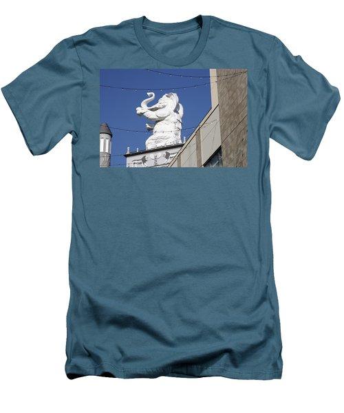 Dancing White Elephant Men's T-Shirt (Athletic Fit)