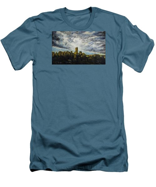 Dark Clouds Approaching 2 Men's T-Shirt (Slim Fit) by Ron Richard Baviello