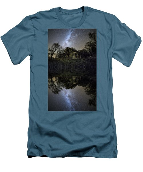 Men's T-Shirt (Athletic Fit) featuring the photograph Dark Reflection by Aaron J Groen