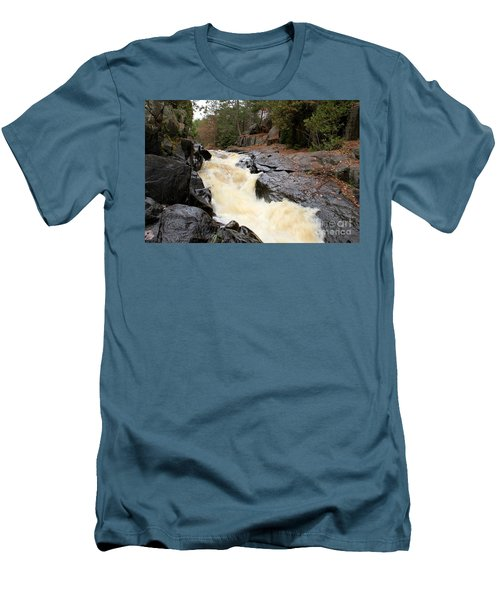 Men's T-Shirt (Slim Fit) featuring the photograph Dave's Falls #7284 by Mark J Seefeldt