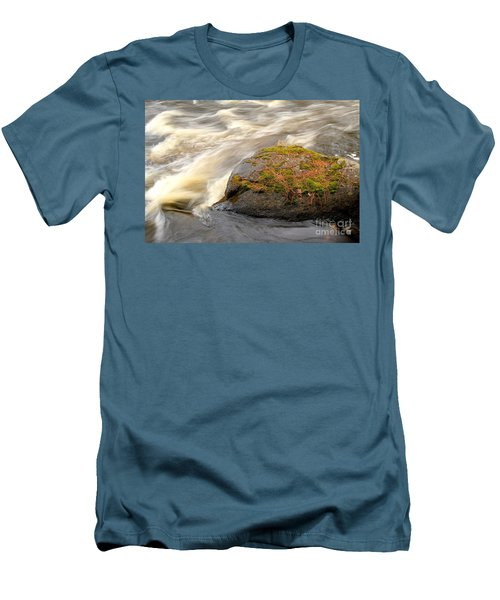 Men's T-Shirt (Slim Fit) featuring the photograph Dave's Falls #7442 by Mark J Seefeldt