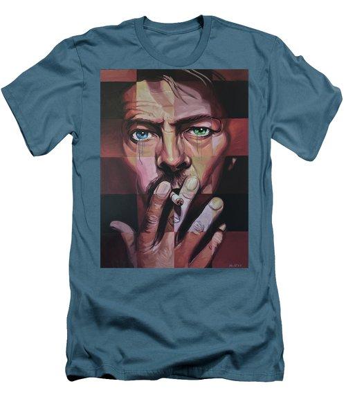 David Bowie Men's T-Shirt (Slim Fit) by Steve Hunter