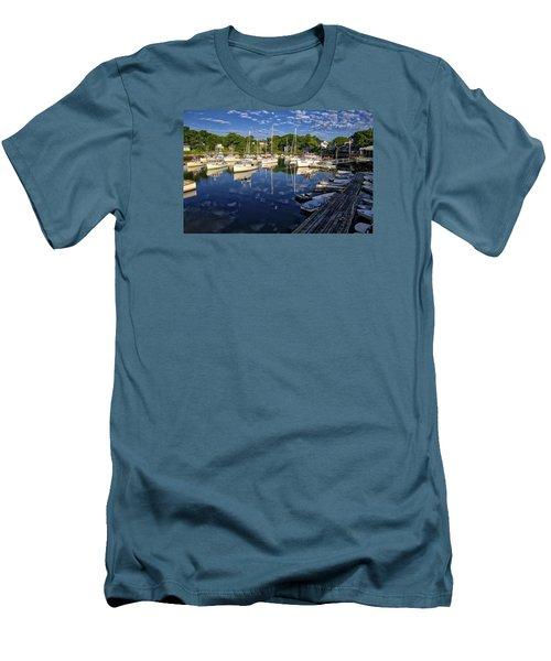 Dawn At Perkins Cove - Maine Men's T-Shirt (Slim Fit) by Steven Ralser