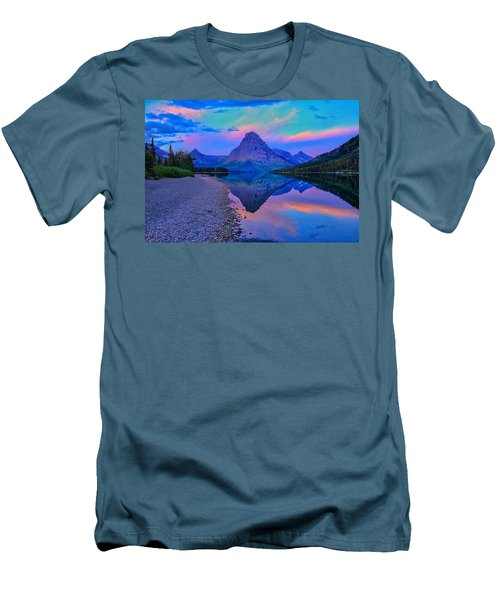 Dawn At Two Medicine Lake Men's T-Shirt (Slim Fit) by Greg Norrell