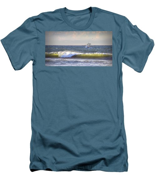 Men's T-Shirt (Slim Fit) featuring the photograph Dawn Fishermen by Phil Mancuso