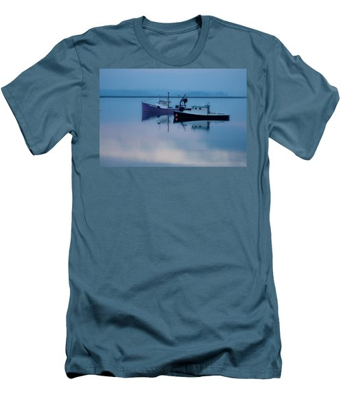 Men's T-Shirt (Slim Fit) featuring the photograph Dawn Rising Over The Harbor by Jeff Folger