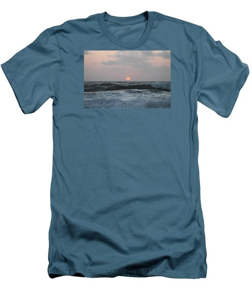 Men's T-Shirt (Slim Fit) featuring the photograph Dawn's Crashing Seas by Robert Banach