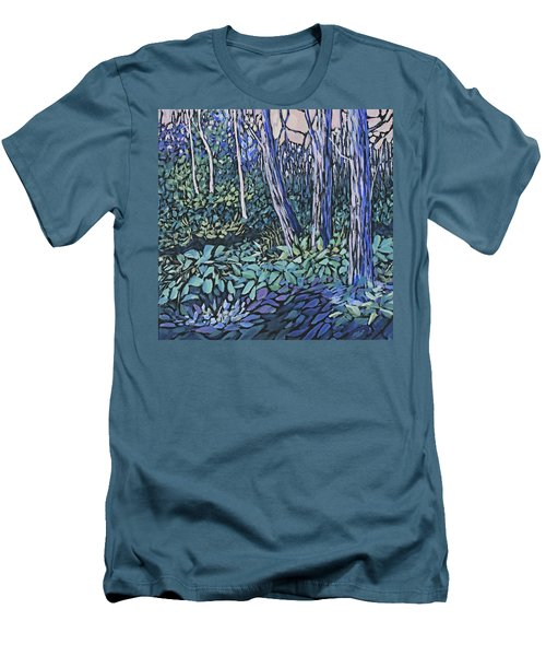 Men's T-Shirt (Slim Fit) featuring the painting Daybreak by Joanne Smoley