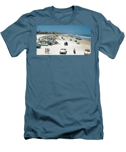 Daytona Beach Florida - 1957 Men's T-Shirt (Athletic Fit)