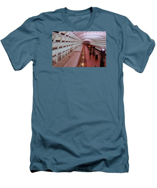 Men's T-Shirt (Slim Fit) featuring the photograph Dc Metro by James Kirkikis