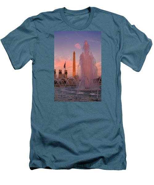 Dc Sunset Men's T-Shirt (Slim Fit) by Betsy Knapp