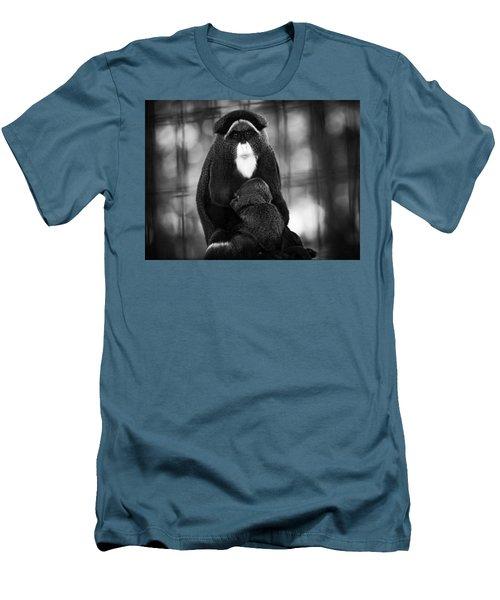 De Brazza's Monkey Men's T-Shirt (Slim Fit) by Jason Moynihan