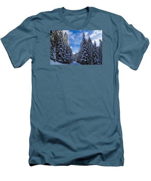 Deep In The Snowy Forest Men's T-Shirt (Slim Fit) by Lynn Hopwood