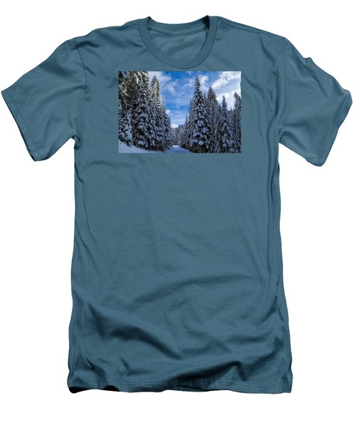 Deep In The Snowy Forest Men's T-Shirt (Athletic Fit)