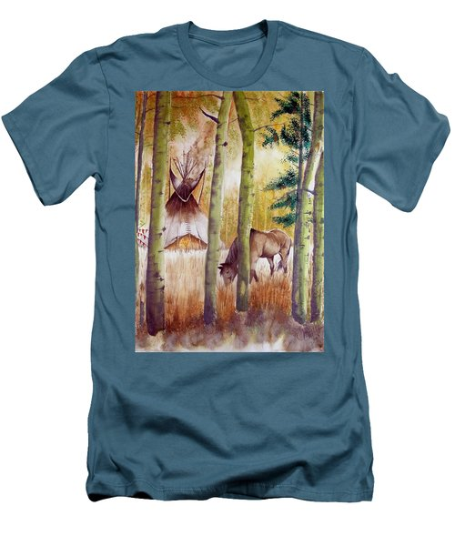 Deep Woods Camp Men's T-Shirt (Athletic Fit)