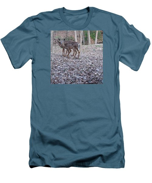 Men's T-Shirt (Slim Fit) featuring the photograph Deer Deer Me  -comp- by Cliff Spohn