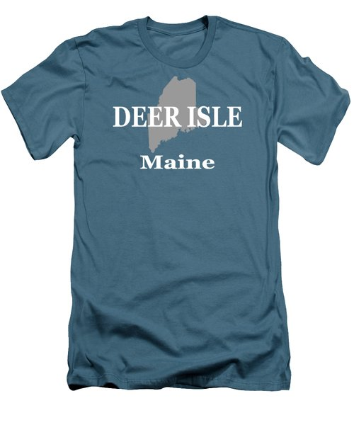 Men's T-Shirt (Slim Fit) featuring the photograph Deer Isle Maine State City And Town Pride  by Keith Webber Jr