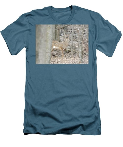 Deer Keeping Watch Men's T-Shirt (Athletic Fit)