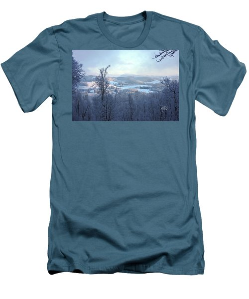 Deer Valley Winter View Men's T-Shirt (Slim Fit) by Meta Gatschenberger
