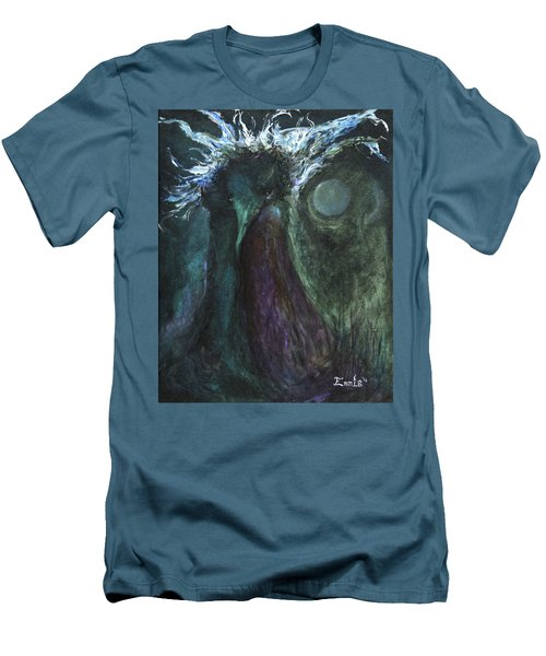 Men's T-Shirt (Slim Fit) featuring the painting Deformed Transcendence by Christophe Ennis