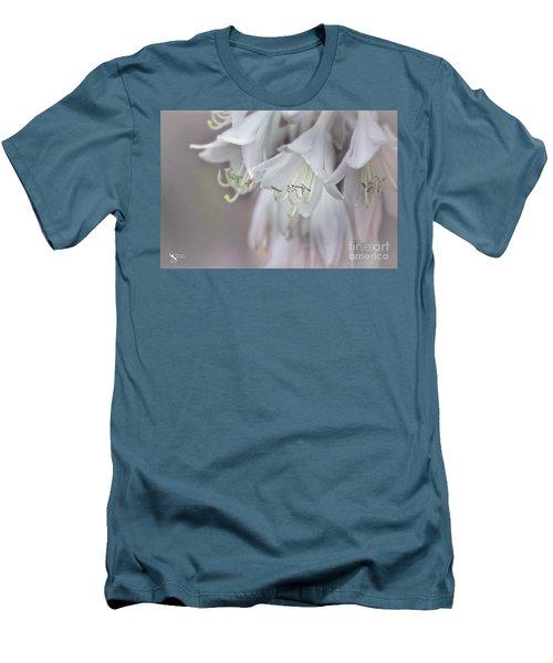 Delicate White Flowers Men's T-Shirt (Athletic Fit)
