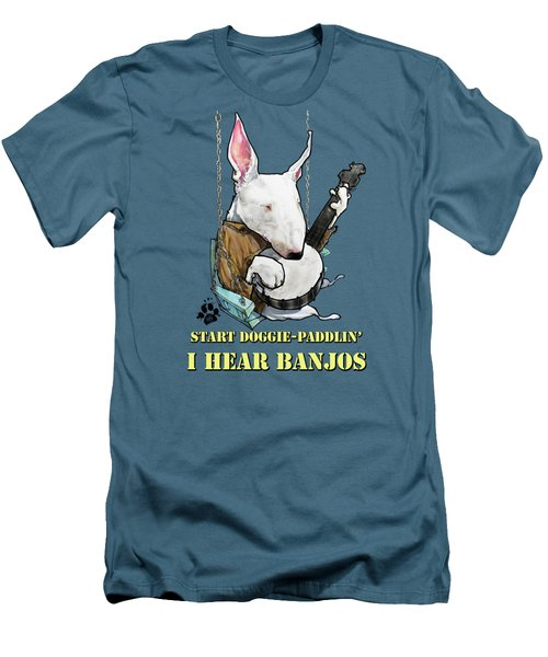 Deliverance Bull Terrier Caricature Art Print Men's T-Shirt (Athletic Fit)