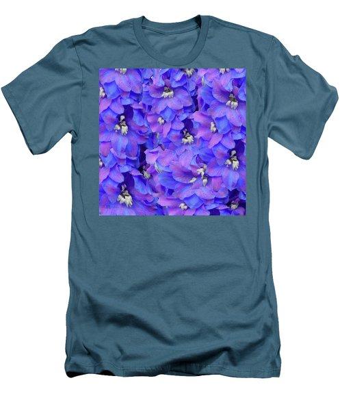 Delphinium Blue Men's T-Shirt (Slim Fit) by Shirley Heyn