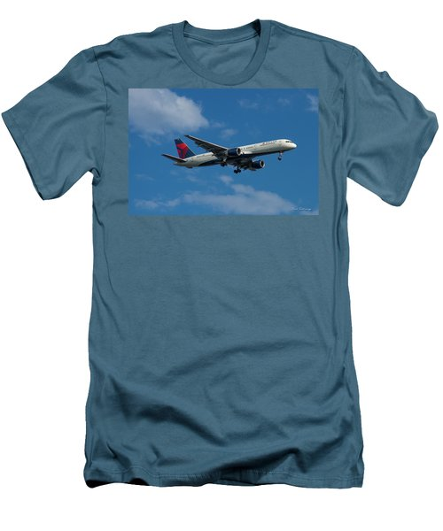 Delta Air Lines 757 Airplane N668dn Men's T-Shirt (Athletic Fit)