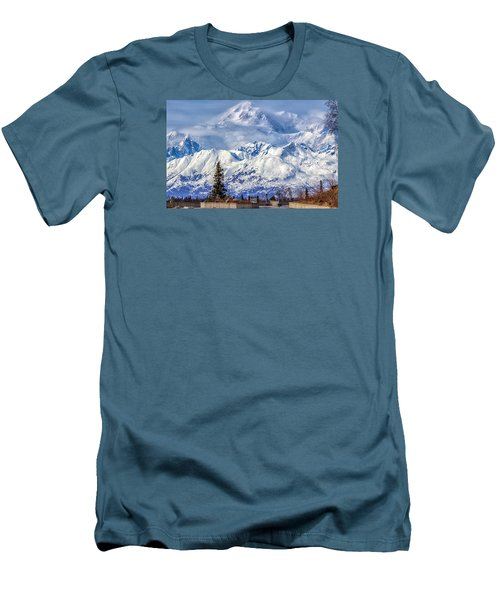 Men's T-Shirt (Slim Fit) featuring the photograph Denali by Michael Rogers