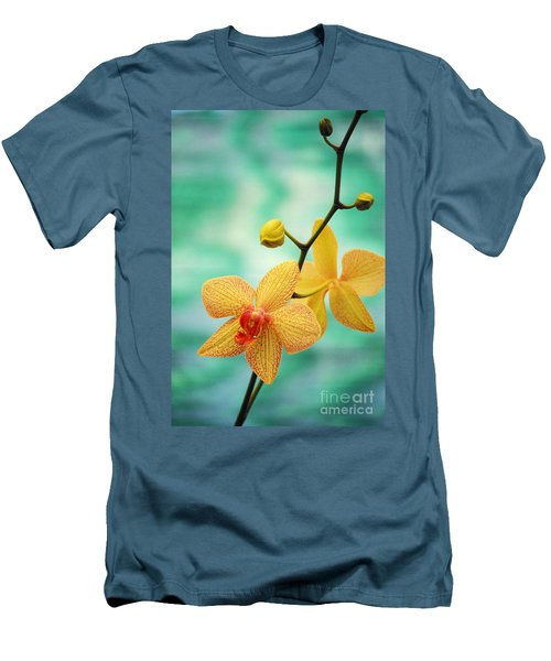 Dendrobium Men's T-Shirt (Slim Fit) by Allan Seiden - Printscapes