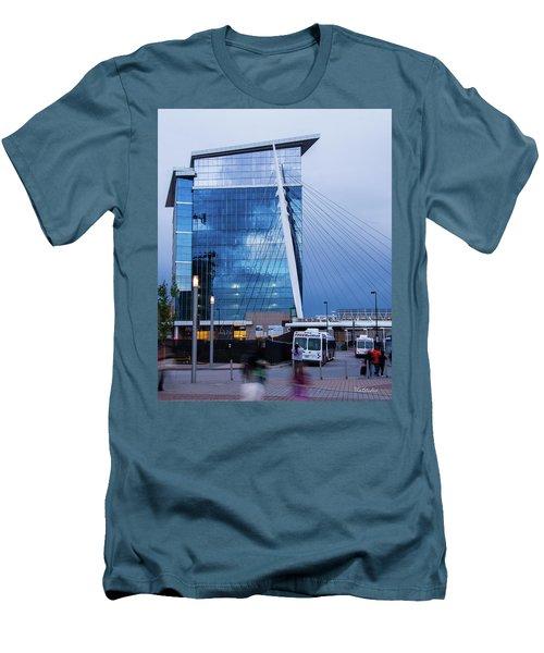 Denver Union Station And Milennium Bridge Men's T-Shirt (Athletic Fit)