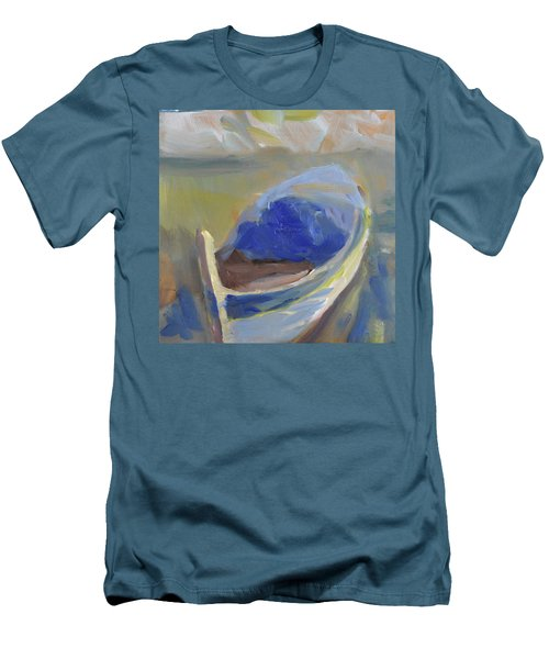 Men's T-Shirt (Slim Fit) featuring the painting Derek's Boat. by Julie Todd-Cundiff