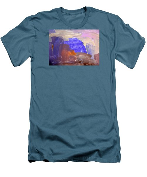 Men's T-Shirt (Slim Fit) featuring the painting Desert By Hannah by Fred Wilson