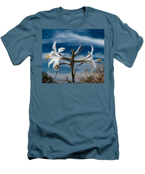 Desert Lilly Close Up Men's T-Shirt (Slim Fit) by Jeremy McKay