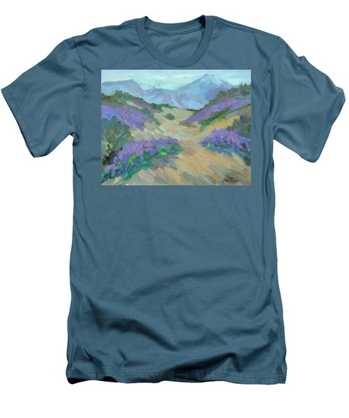 Men's T-Shirt (Slim Fit) featuring the painting Desert Verbena by Diane McClary