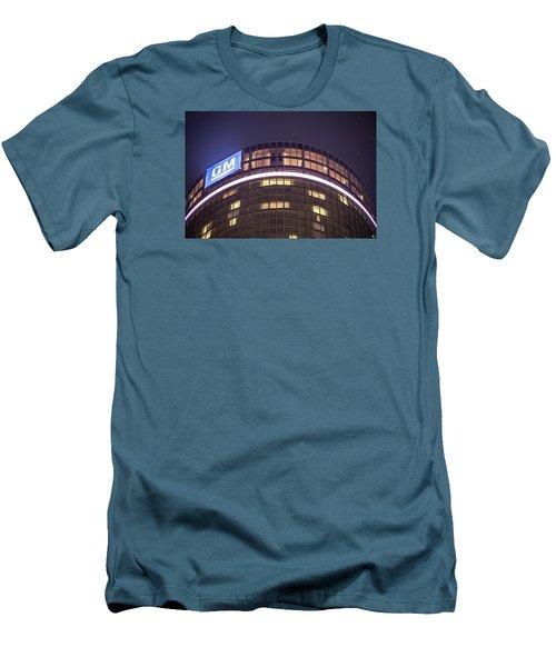 Men's T-Shirt (Slim Fit) featuring the photograph Detroit Renaissance Center by Nicholas  Grunas