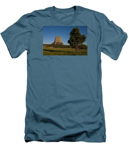 Men's T-Shirt (Slim Fit) featuring the photograph Devil's Tower by Gary Lengyel