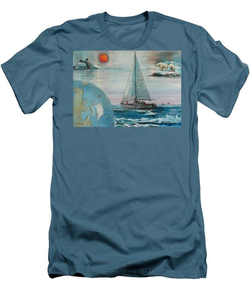 Ireland Canada Links..'' Northabout '' Rounding The North West Passage Men's T-Shirt (Athletic Fit)