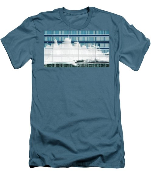 Men's T-Shirt (Slim Fit) featuring the photograph Dia Hotel Reflection by Joe Bonita