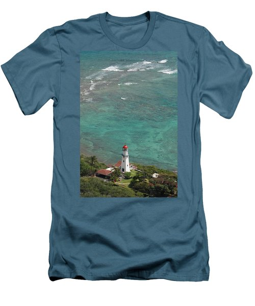 Diamond Head Lighthouse 3 Men's T-Shirt (Athletic Fit)