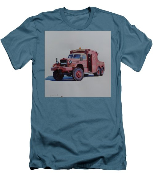 Men's T-Shirt (Slim Fit) featuring the painting Diamond T Wrecker. by Mike Jeffries
