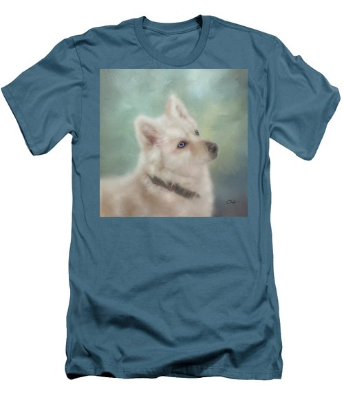Diamond, The White Shepherd Men's T-Shirt (Slim Fit) by Colleen Taylor