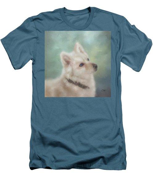Diamond, The White Shepherd Men's T-Shirt (Athletic Fit)