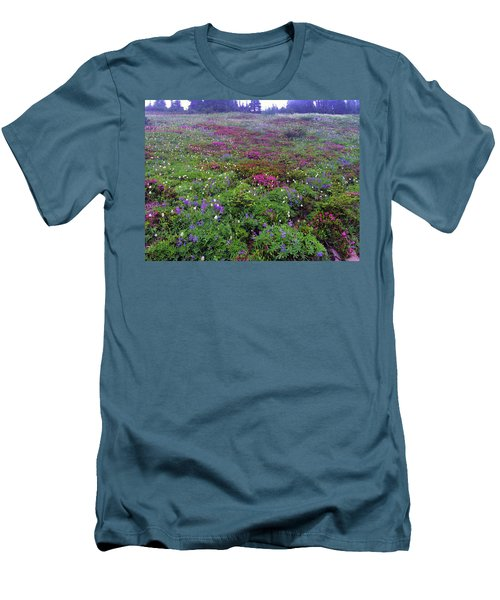 Dickerman Floral Meadow Men's T-Shirt (Athletic Fit)