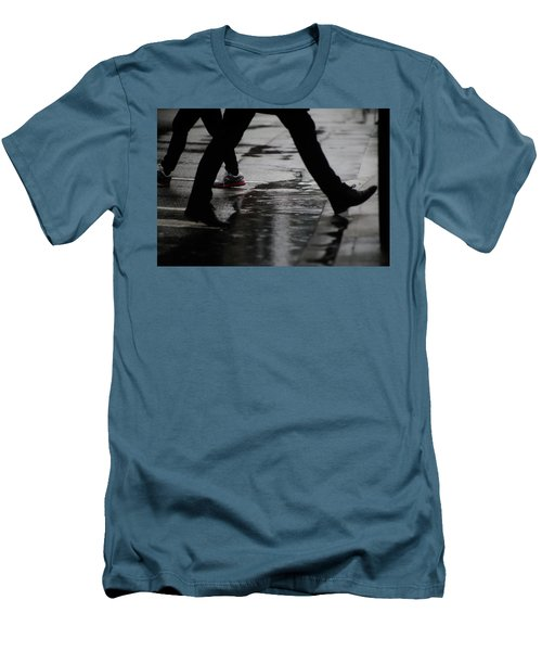 Men's T-Shirt (Slim Fit) featuring the photograph different Directions  by Empty Wall