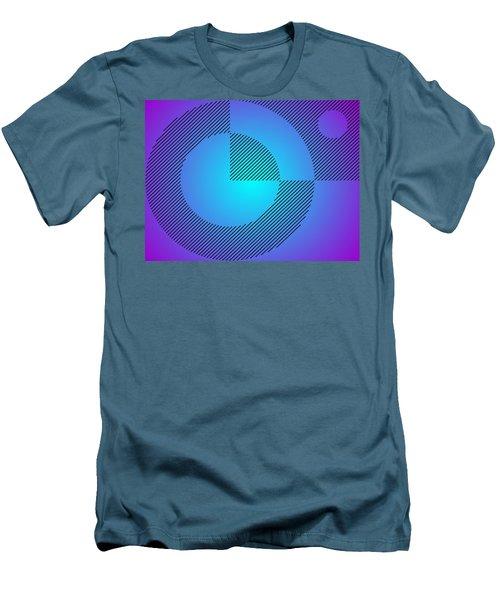 Digital Abstract Art 001 A Men's T-Shirt (Slim Fit) by Larry Capra