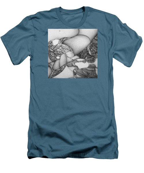 Digitized Ballpoin Xxv Men's T-Shirt (Slim Fit) by Jack Dillhunt
