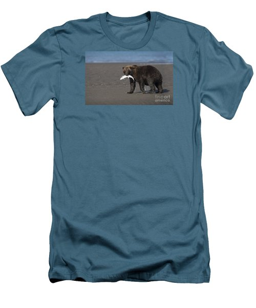 Men's T-Shirt (Slim Fit) featuring the photograph Dinner Time by Sandra Bronstein