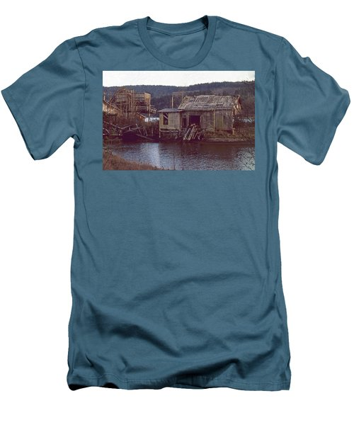 Men's T-Shirt (Slim Fit) featuring the photograph Discovery Bay Mill by Laurie Stewart